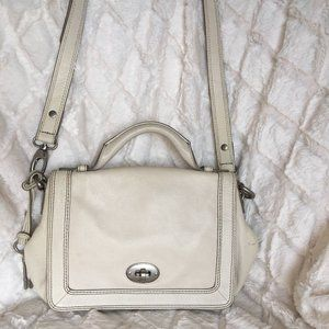 Fossil Marlow Flap Crossbody Bag Cream